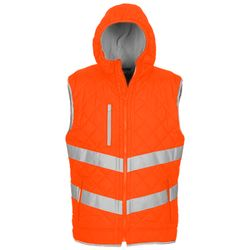 Hi-vis Kensington hooded gilet (HV007) Thumbnail