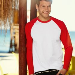Long sleeved Baseball Tee Shirt Thumbnail