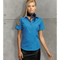 Ladies Short Sleeved Poplin Blouse Thumbnail
