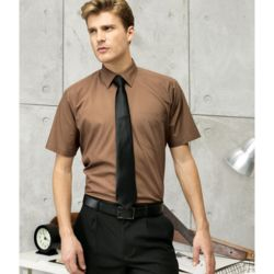 Mens Short Sleeved Poplin Shirt Thumbnail