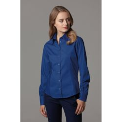 Womens Corporate Oxford Long Sleeved Blouse Thumbnail