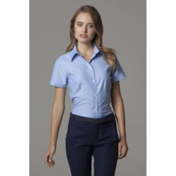 Womens Workplace Oxford Short Sleeved Blouse Thumbnail