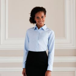Womens Long Sleeved Easycare Oxford Shirt  Thumbnail