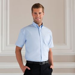 Mens Short Sleeved Easycare Oxford Shirt Thumbnail