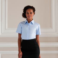 Womens Short Sleeved Oxford Shirt Thumbnail
