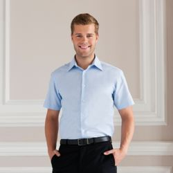 Mens Short Sleeved Easycare Tailored Oxford Shirt Thumbnail